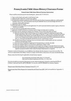 pennsylvania child abuse history clearance forms printable pdf download