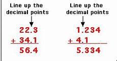 10 digits addition with decimals adding decimals enchantedlearning