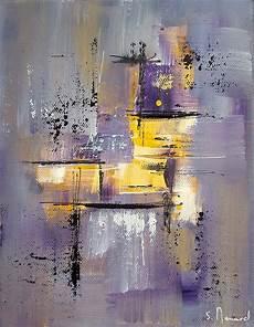 tableau moderne noir et blanc photographie peinture moderne gris jaune violet fichier