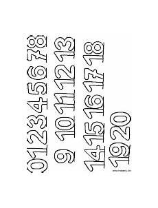 Ausmalbilder Zahlen Bis 20 Zahlen Lernen Mandalas Im Kidsweb De
