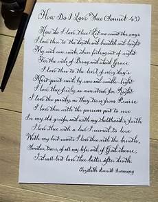 cursive handwriting worksheets poems 22053 how do i thee poem sonnet 43 by elizabeth barrett browning handwritten in