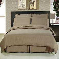 8pc luxury super soft taupe bedding w microfiber sheets duvet cover comforter ebay