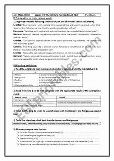 the winter s tale worksheets 20112 the winter 180 s tale part 2 bac pupils esl worksheet by cyrine khmili