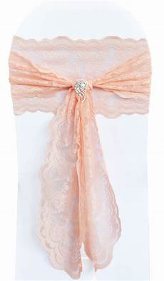apricot peach lace wedding chair sashes wholesale