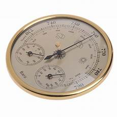 Gold Wall Hanging Weather Thermometer Barometer by Wholesale High Accuracy Barometer Gold From China