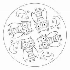 Malvorlagen Mandala Eulen Owl Mandala For Pre K Kindergarten And Elementary School