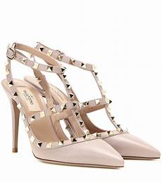 valentino leather rockstud pumps in lyst