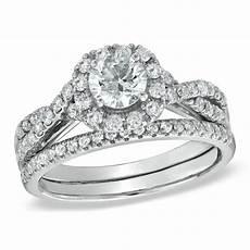 1 1 10 ct t w diamond frame twist bridal in 14k
