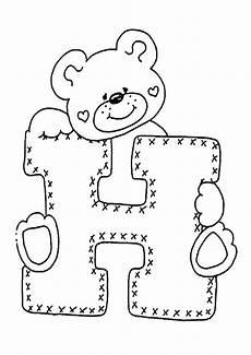 Ausmalbilder Mit Buchstaben Buchstaben H Ausmalbilder