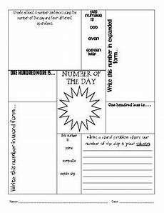 number of the day daily math worksheet 3rd 8th grade