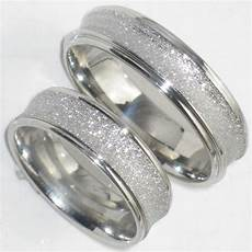 his hers 6mm sandblast wedding ring band str383w mens or