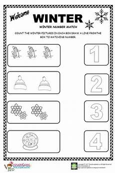 winter pre writing worksheets 20124 winter number count worksheet for