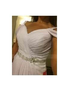 robe ée 30 5502 forme princesse col v tra 238 ne moyenne mousseline robe de mari 233 e avec pliss 233 brod 233 paillettes