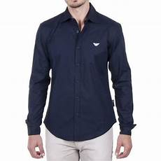 emporio armani chemise homme bleu marine noir achat