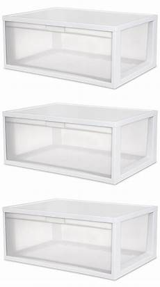 Clear Storage Drawers by 3 Sterilite 23758003 Large Modular Stacking Storage