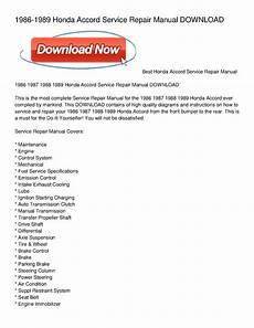 how to download repair manuals 1993 honda accord windshield wipe control calam 233 o 1986 1989 honda accord service repair manual download
