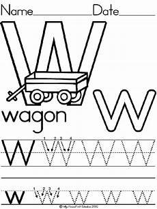 pre k worksheets letter w 24429 alphabet letter w wagon standard block manuscript handwriting practice worksheet preschool