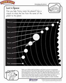 space science worksheets 13402 quot lost in space quot 1st grade science worksheet on planets jumpstart space the moon