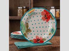 The Pioneer Woman Vintage Bloom 4 Pack Scalloped Dinner