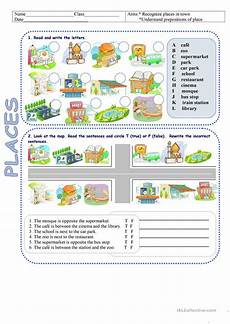 places around town worksheets 16029 places in town directions worksheet free esl printable worksheets made by teachers