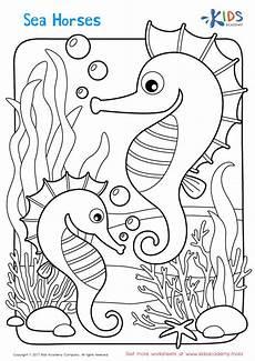 Ausmalbilder Meerjungfrau Pferd Sea Horses Coloring Page Mermaid Coloring Book Mermaid