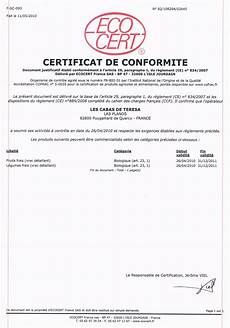 Certificat Et Licence Ecocert