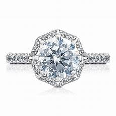 tacori engagement rings crescent bloom 0 58ct