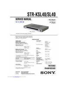 Sony Str Ksl40 Manuals