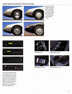 old car manuals online 1992 mercury cougar navigation system the old car manual project brochure collection