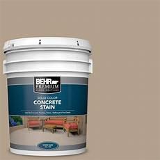 behr premium 5 gal pfc 33 washed khaki solid color flat interior exterior concrete stain 80005