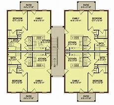 traditional 8 unit multiplex house plan 83140dc