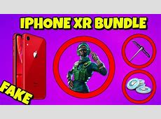 NEW iPhone XR BUNDLE in Fortnite is FAKE *Explained*   YouTube