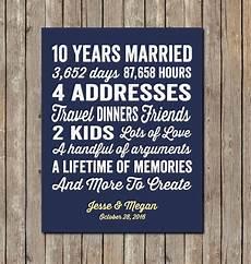 Ideas For 10 Year Wedding Anniversary