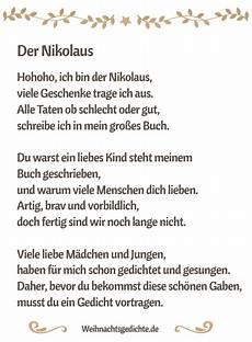 nikolausgedichte gedichte f 252 r den nikolaus