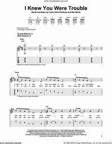 i knew you were trouble sheet music for guitar