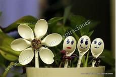 vamos a hacer lindas flores con cucharas recicladas decorar nuestras macetas mi blog y