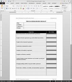 Design Checklist by Product Design Review Checklist Template