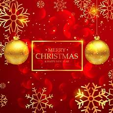 amazing merry christmas greeting card with hanging golden ba download free vector art