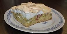 Rhabarberkuchen Mit Baiser Vom Blech - rezept rhabarberkuchen mit baiser vom blech genial lecker