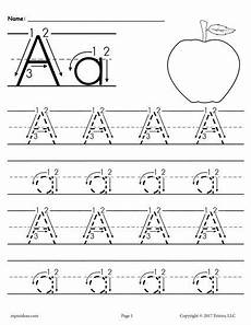 alphabet tracing worksheets letter a 23845 free printable letter a tracing worksheet with number and arrow guides tracing worksheets