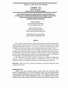 pdf pengaruh penerapan mekanisme good corporate