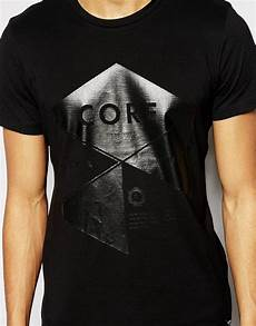 lyst jones t shirt with shiny print in black