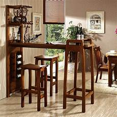 home solid wooden bar furniture set bar table and chair
