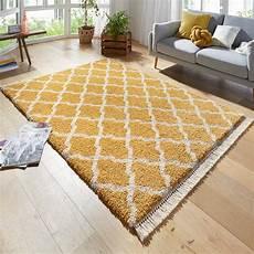 teppich gold design teppich hochflor pearl gold creme mit fransen ebay