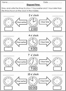 time worksheets earlier and later 2983 free elapsed time worksheets 1 hour earlier 1 hour later with images time worksheets