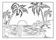 Malvorlagen Urlaub Island Malvorlagen Palmen Strand