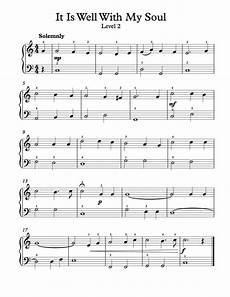 free piano arrangement sheet music it is well with my