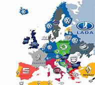 Brand Of Top Selling Car In Europe 1200x1070 OC  MapPorn