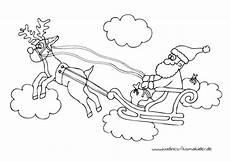 Malvorlage Rentierschlitten Rentierschlitten Mit Weihnachtsmann Nadines Ausmalbilder