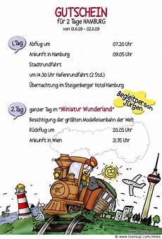 Illustration Gutschein Miniatur Wunderland